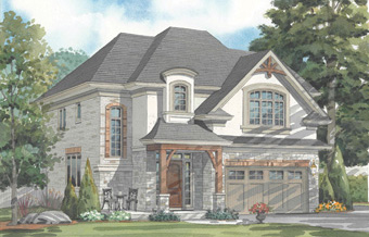 Artists rendering of The Griffin custom model home