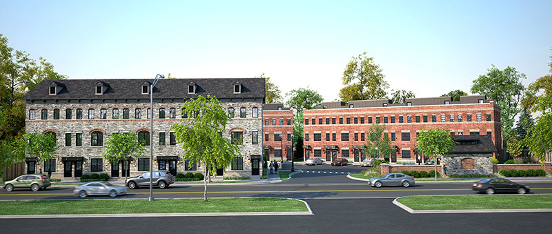 Architect Rendering 4 - street view