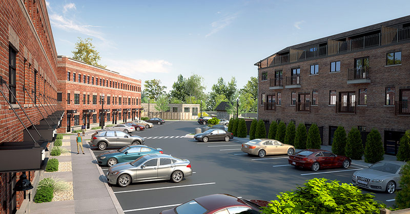 Architect Rendering 5 - parking lot between the Bryant and the Livingston