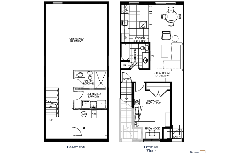The Bryant floorplan graphic