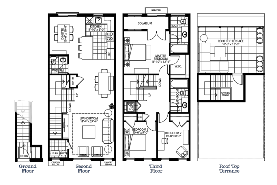 The Livingston floorplan graphic
