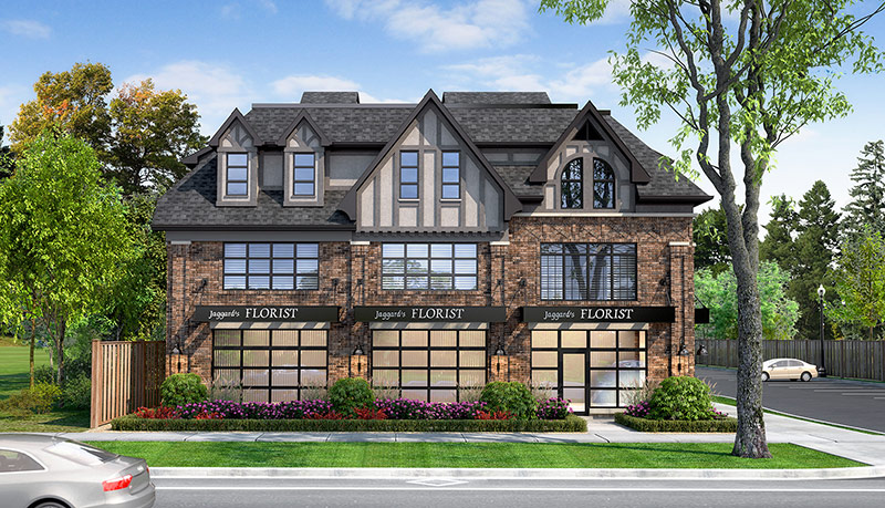 Ivy on Plains Wisteria and commercial unit - rendering 1