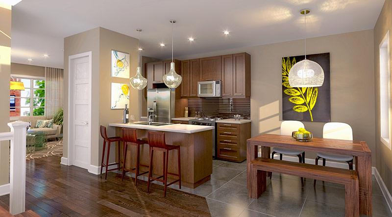 Ivy on Plains kitchen - rendering 4