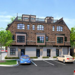 Ivy on Plains Wisteria and commercial unit rear view - rendering 5