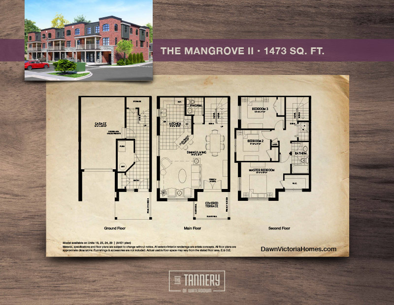 The Mangrove 2 floorplan with inset image of rendering