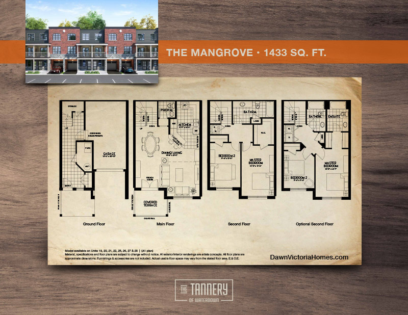 The Mangrove floorplan with inset image of rendering