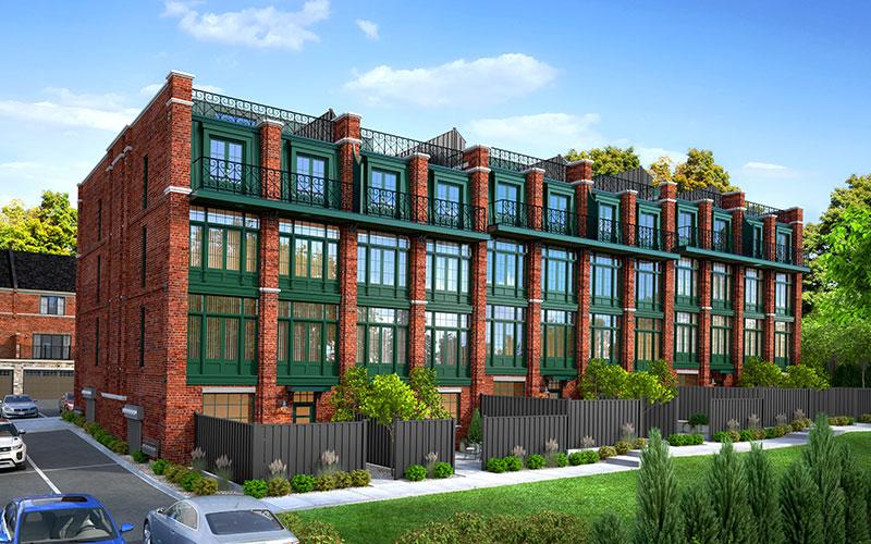 Locke Street Lofts building rear view
