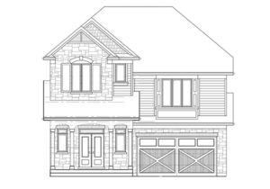 Courtland Exterior Elevation B at Stonehaven